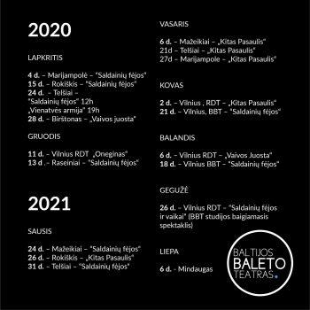 2020 – 2021 m. repertuaras